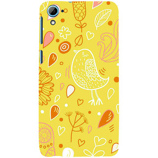 ifasho Animated Pattern colrful design cartoon flower with leaves Back Case Cover for HTC Desire 826