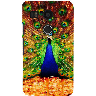 ifasho Beautiful Peacock Back Case Cover for Google Nexus 5X