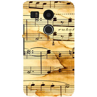 ifasho Animated Pattern design black and white music symbols and lines Back Case Cover for Google Nexus 5X