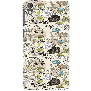 ifasho Animated Pattern colrful design flower with leaves Back Case Cover for HTC Desire 820