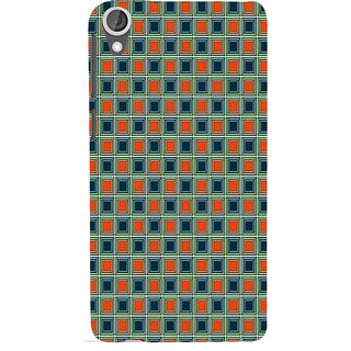 ifasho Colour Full Square Pattern Back Case Cover for HTC Desire 820