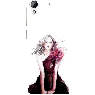 ifasho Cute Winking Girl painting Back Case Cover for HTC Desire 626