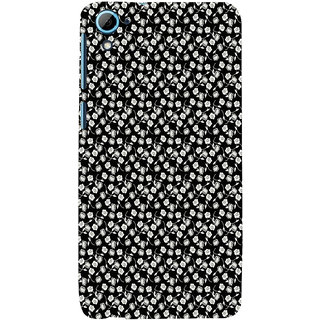 ifasho Modern Art Design animated cloth Pattern of small flower Back Case Cover for HTC Desire 826