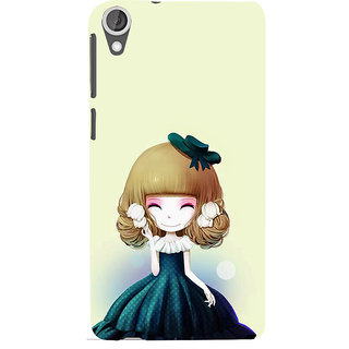 ifasho Winking Girl with green Cap Back Case Cover for HTC Desire 820