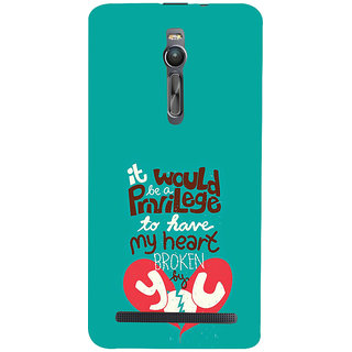 ifasho Heart Break Girl Back Case Cover for Asus Zenfone2