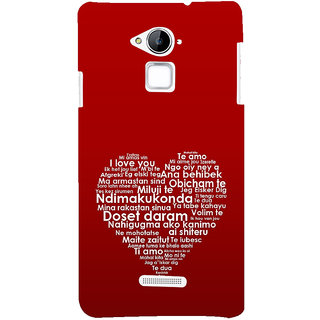 ifasho Love Quotes I love you Back Case Cover for Coolpad Note 3