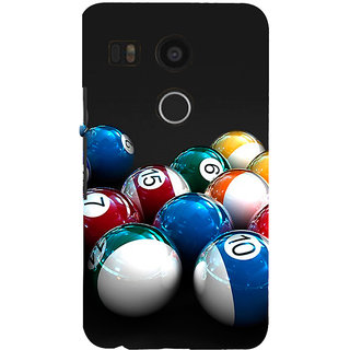 ifasho Design colourful biliards ball pattern Back Case Cover for Google Nexus 5X