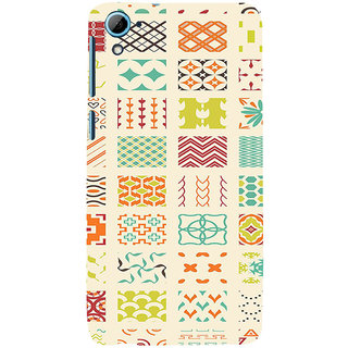ifasho Animated Pattern colrful 3Dibal design Back Case Cover for HTC Desire 826