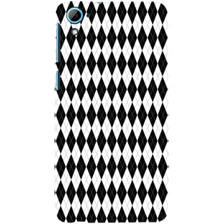 ifasho Animated Pattern of Chevron Arrows royal style Back Case Cover for HTC Desire 826