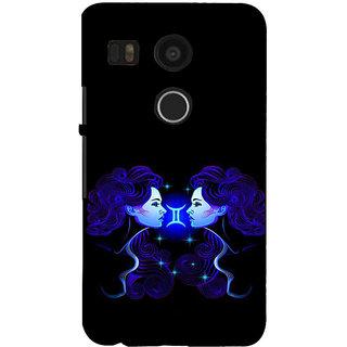 ifasho zodiac sign gemini Back Case Cover for Google Nexus 5X