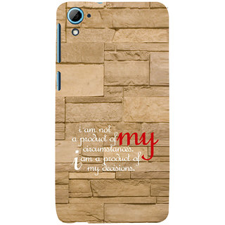 ifasho Kowledge quotes on stone pattern  Back Case Cover for HTC Desire 828