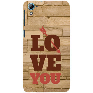 ifasho Quote On Love you and me Back Case Cover for HTC Desire 828