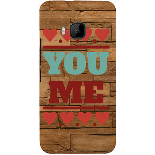 ifasho Quote On Love you and me Back Case Cover for HTC One M9