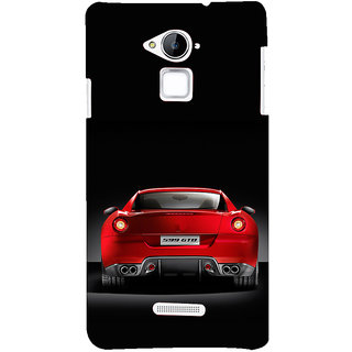 ifasho Red Stylish Car from back side Back Case Cover for Coolpad Note 3