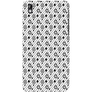 ifasho Animated Pattern design black and white flower in royal style Back Case Cover for HTC Desire 816