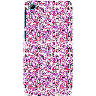 ifasho Colour Full Squre Pattern Back Case Cover for HTC Desire 826