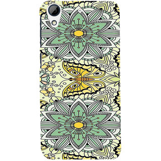 ifasho Animated Pattern colrful flower and butterfly Back Case Cover for HTC Desire 728