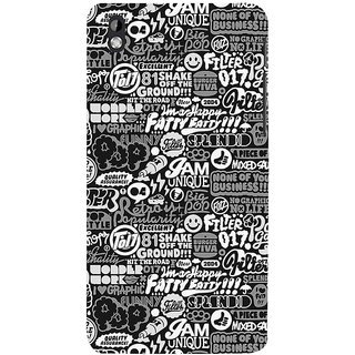 ifasho Motivatinal Quote Back Case Cover for HTC Desire 816