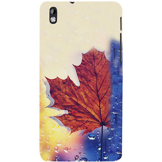 ifasho water Drop on brown leaf Back Case Cover for HTC Desire 816