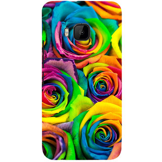 ifasho Animated Pattern colorful rose flower Back Case Cover for HTC One M9