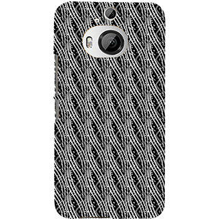 ifasho Design lines pattern Back Case Cover for HTC ONE M9 Plus