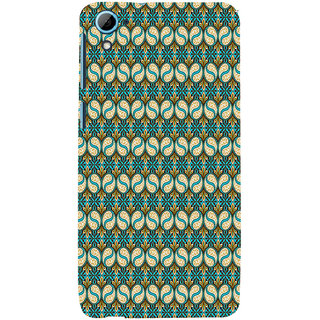 ifasho Animated Pattern design colorful flower in royal style with lines Back Case Cover for HTC Desire 826
