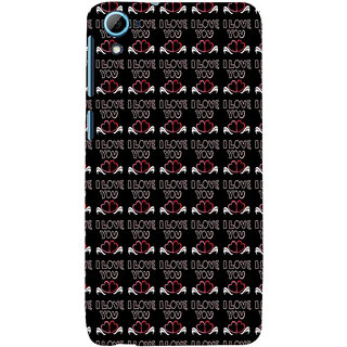 ifasho Animated Pattern With Love and heart and I love you Back Case Cover for HTC Desire 826