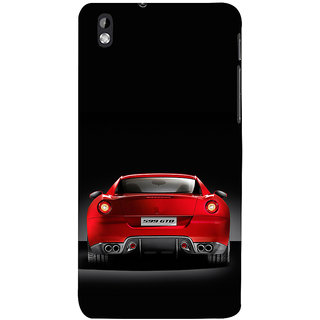 ifasho Red Stylish Car from back side Back Case Cover for HTC Desire 816