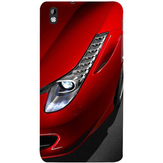 ifasho Red Royal colour Car Back Case Cover for HTC Desire 816