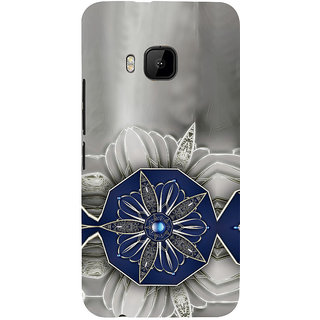 ifasho Animated Pattern design black and white diamond in royal style Back Case Cover for HTC One M9