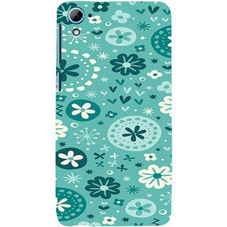 ifasho Modern Art Design animated cloth Pattern of flower Back Case Cover for HTC Desire 826