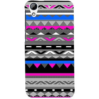 ifasho multi color 3Diangular and circle Pattern Back Case Cover for HTC Desire 728