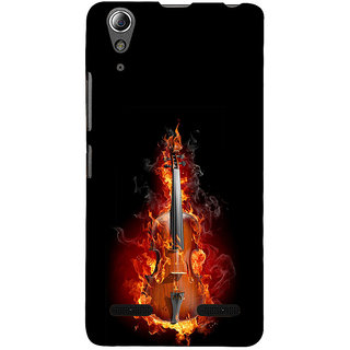 ifasho Animated  Guitar Back Case Cover for Lenovo A6000