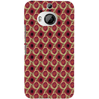 ifasho Animated Pattern design flower with leaves Back Case Cover for HTC ONE M9 Plus