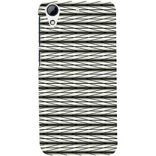 ifasho chevron style and Checks In black and white Pattern Back Case Cover for HTC Desire 728
