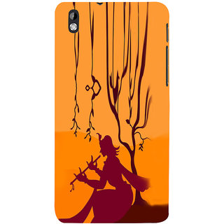 ifasho Lord Krishna with Flute animation Back Case Cover for HTC Desire 816