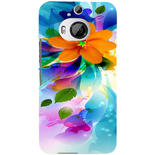ifasho Flower Design multi color Back Case Cover for HTC ONE M9 Plus