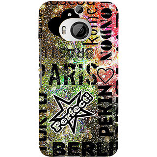 ifasho water Drop on Colurful love and city names Back Case Cover for HTC ONE M9 Plus