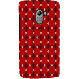 ifasho Design Clourful red and white Circle Pattern Back Case Cover for Lenovo K4 Note