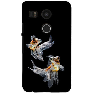 ifasho Fish in Blue See Back Case Cover for Google Nexus 5X