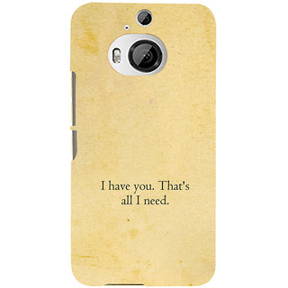 ifasho I have you thats all I need Back Case Cover for HTC ONE M9 Plus