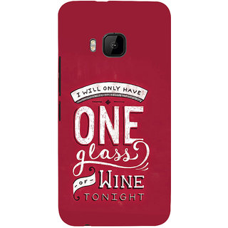 ifasho drink quotes Back Case Cover for HTC One M9