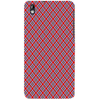 ifasho Colour Full Square Pattern Back Case Cover for HTC Desire 816