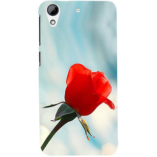 ifasho Red Rose Back Case Cover for HTC Desire 626