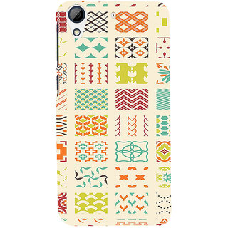 ifasho Animated Pattern colrful 3Dibal design Back Case Cover for HTC Desire 626