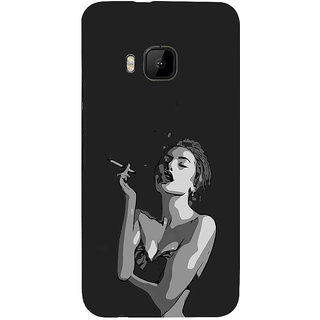 ifasho Smoking girl Back Case Cover for HTC One M9
