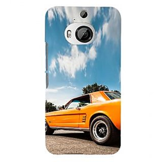 ifasho Orange colour Car Back Case Cover for HTC ONE M9 Plus
