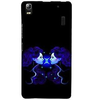 ifasho zodiac sign gemini Back Case Cover for Lenovo A7000