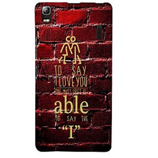 ifasho Love Quotes I love you Back Case Cover for Lenovo A7000