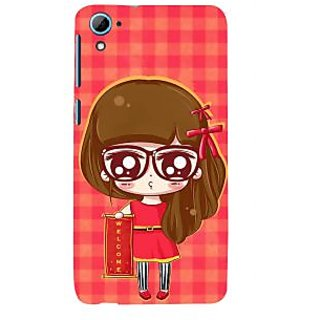 ifasho Crazy Girl Back Case Cover for HTC Desire 826